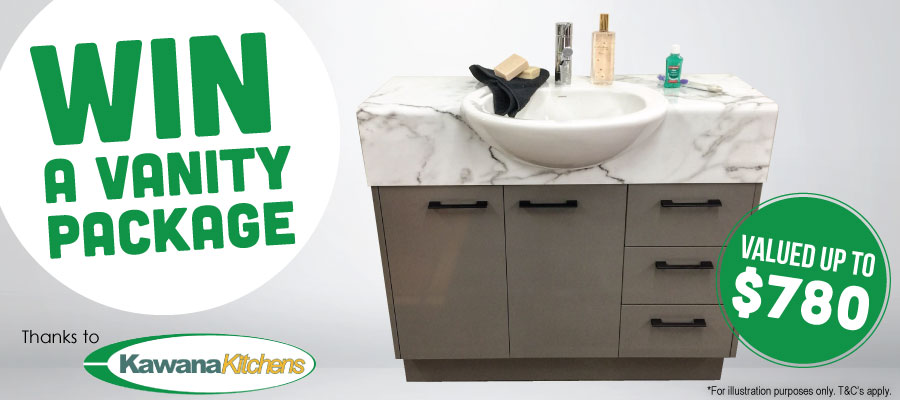 WIN a Brand New Vanity Package!